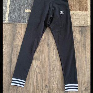 Adidas 3 stripes cuff black leggings